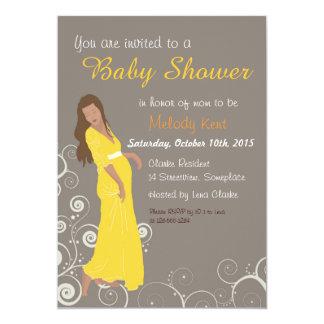 La fiesta de bienvenida al bebé invita al ejemplo invitación 12,7 x 17,8 cm