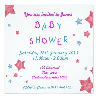 La fiesta de bienvenida al bebé invita invitación 13,3 cm x 13,3cm
