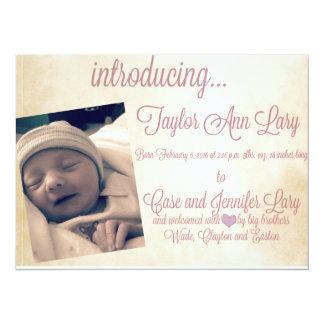 La fiesta de bienvenida al bebé invita invitación 13,9 x 19,0 cm