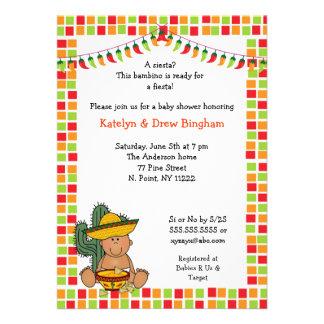 La fiesta de bienvenida al bebé mexicana de la fie invitacion personal