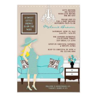 La fiesta de bienvenida al bebé moderna elegante invitación 12,7 x 17,8 cm