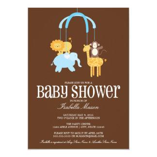 La fiesta de bienvenida al bebé móvil de los invitación 12,7 x 17,8 cm
