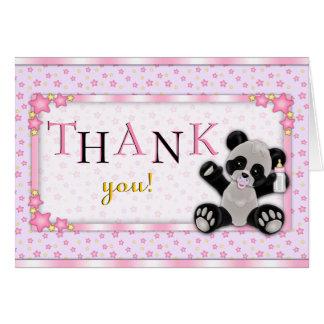 La fiesta de bienvenida al bebé rosada linda del tarjeta pequeña