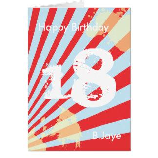 La fiesta de cumpleaños adolescente le tarjeta pequeña