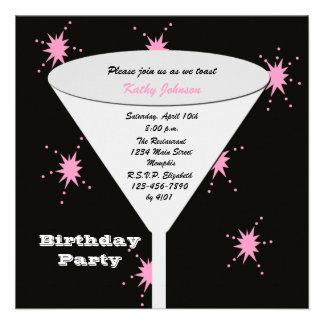 La fiesta de cumpleaños adulta invita -- Su tostad