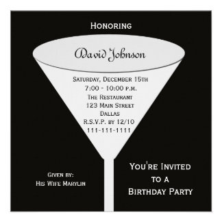 La fiesta de cumpleaños adulta invita -- Una tost