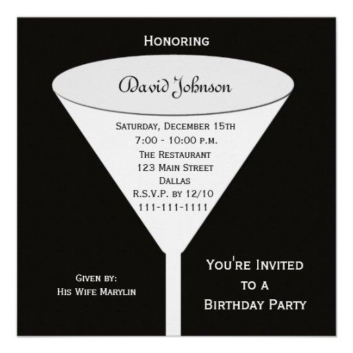 La fiesta de cumpleaños adulta invita --  Una tost Invitacion Personal