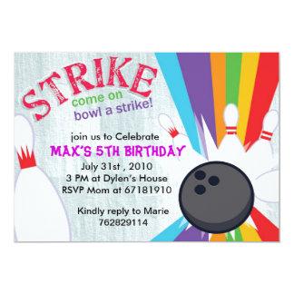 La fiesta de cumpleaños afortunada de la huelga invitación 12,7 x 17,8 cm