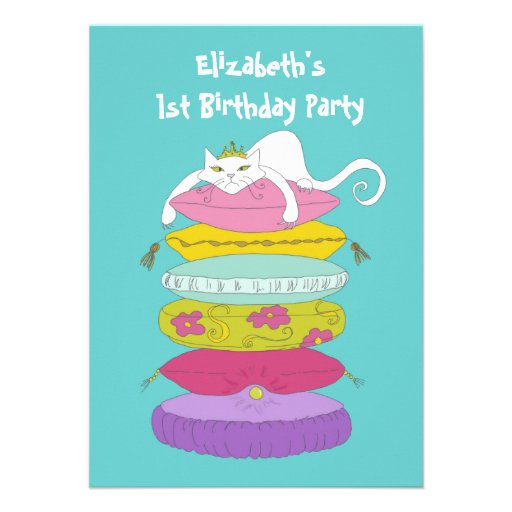 La fiesta de cumpleaños caprichosa divertida linda comunicado personalizado