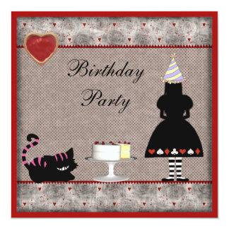 La fiesta de cumpleaños de Alicia y del gato de Anuncio Personalizado