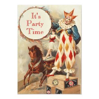 La fiesta de cumpleaños de encargo del payaso de invitación 12,7 x 17,8 cm