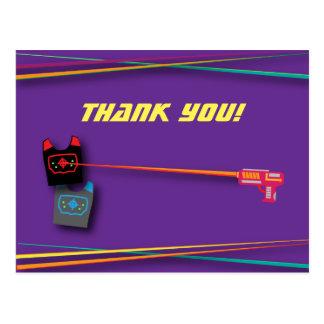 La fiesta de cumpleaños de la etiqueta del laser postal