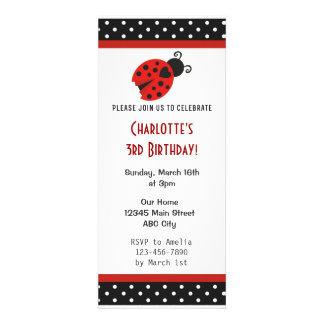 La fiesta de cumpleaños de la mariquita invita a l