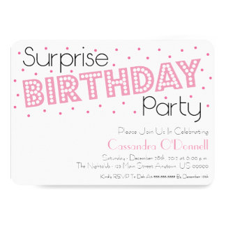 La fiesta de cumpleaños de la sorpresa del confeti invitación 12,7 x 17,8 cm