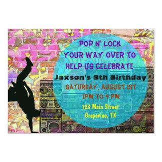 La fiesta de cumpleaños de los años 80 de la danza invitaciones personalizada