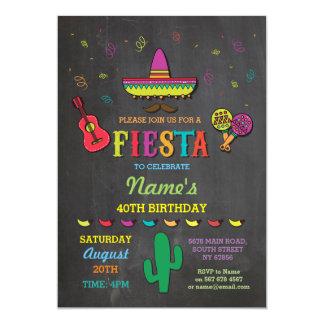 La fiesta de cumpleaños de México del gorra Invitación 12,7 X 17,8 Cm