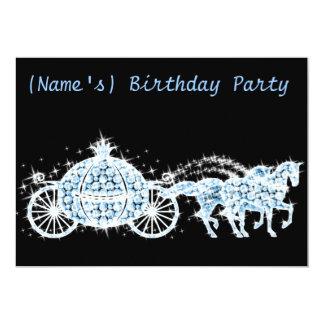 La fiesta de cumpleaños del carro de Cenicienta de Invitación 12,7 X 17,8 Cm