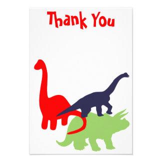 La fiesta de cumpleaños del dinosaurio le agradece anuncio personalizado