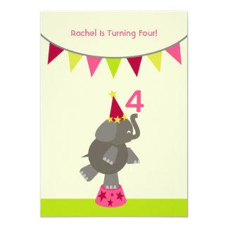La fiesta de cumpleaños del elefante y de las invitación 12,7 x 17,8 cm