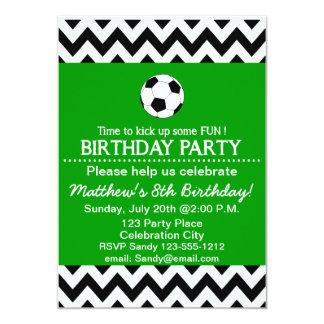 La fiesta de cumpleaños del fútbol embroma invitación 12,7 x 17,8 cm