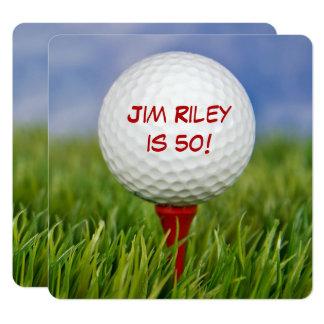 La fiesta de cumpleaños del golf invita invitación 13,3 cm x 13,3cm
