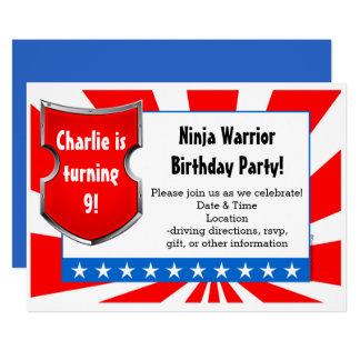 La fiesta de cumpleaños del guerrero de Ninja Invitación 12,7 X 17,8 Cm