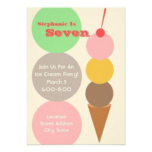 La fiesta de cumpleaños del helado invita anuncios
