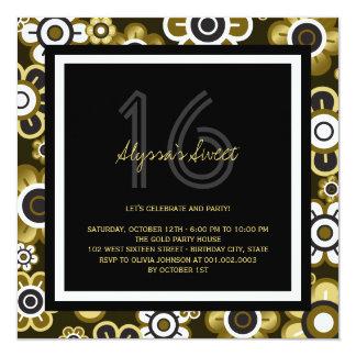 La fiesta de cumpleaños elegante del dulce 16 de invitación 13,3 cm x 13,3cm