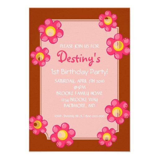 La fiesta de cumpleaños invita a la flor linda |go comunicados personales