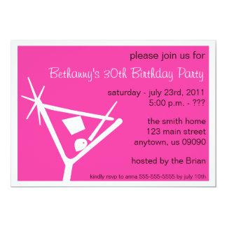 La fiesta de cumpleaños invita al vidrio de invitación 12,7 x 17,8 cm