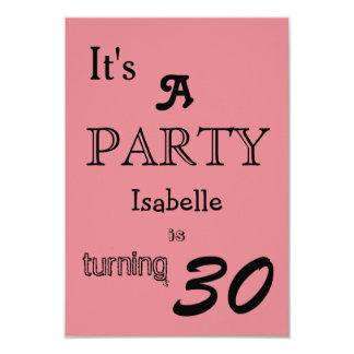 La fiesta de cumpleaños invita invitación 8,9 x 12,7 cm