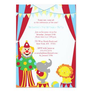 La fiesta de cumpleaños linda del muchacho/del invitación 11,4 x 15,8 cm