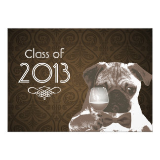 La fiesta de graduación elegante 2013 de sir Pug i Invitacion Personal