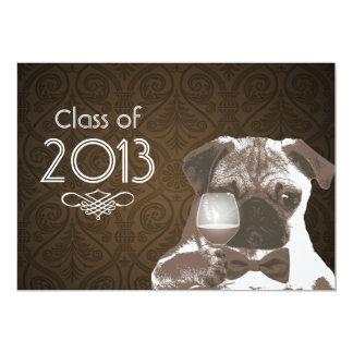 La fiesta de graduación elegante 2013 de sir Pug Invitación 12,7 X 17,8 Cm