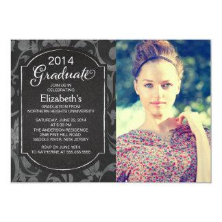 La fiesta de graduación floral de la foto de la invitación 12,7 x 17,8 cm