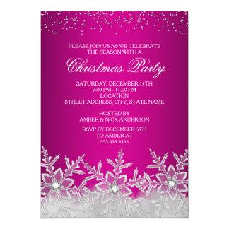 La fiesta de Navidad cristalina de las rosas Invitación 12,7 X 17,8 Cm