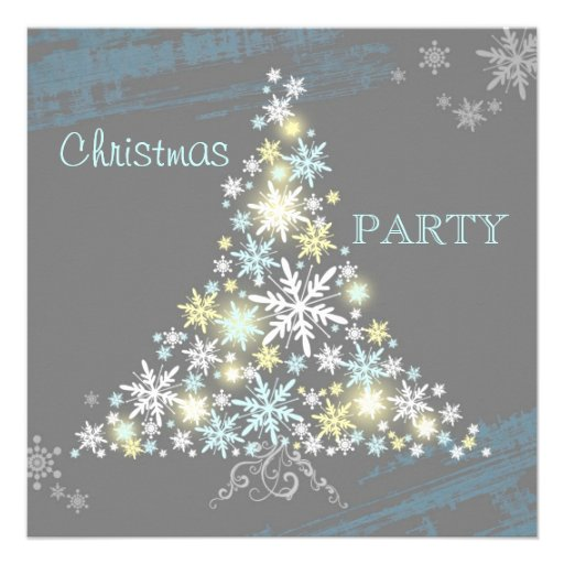 La fiesta de Navidad maravillosa del árbol de los  Invitacion Personal