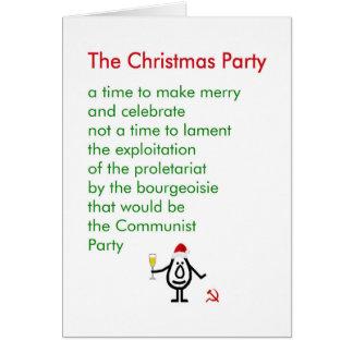 La fiesta de Navidad - un poema divertido del Tarjeta De Felicitación