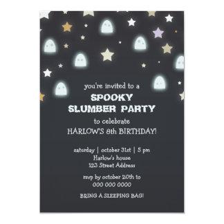 La fiesta de pijamas fantasmagórica de las invitación 12,7 x 17,8 cm