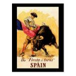 La fiesta De Toros In España Postal
