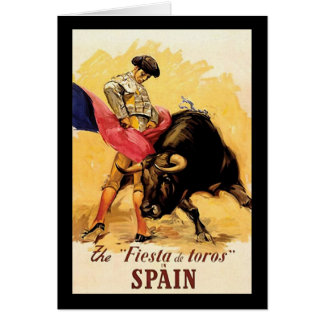 La fiesta De Toros In España Tarjeta