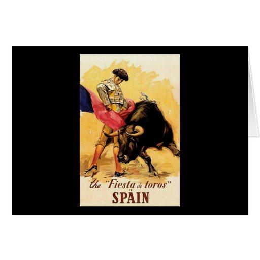 La fiesta De Toros In España Felicitaciones