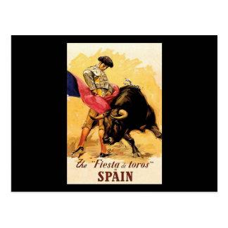 La fiesta De Toros In España Tarjetas Postales