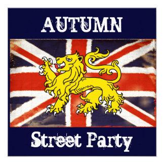 La fiesta en la calle BRITÁNICA de Union Jack Autu Anuncio Personalizado