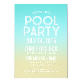 La fiesta en la piscina del verano de la arena de invitación 12,7 x 17,8 cm