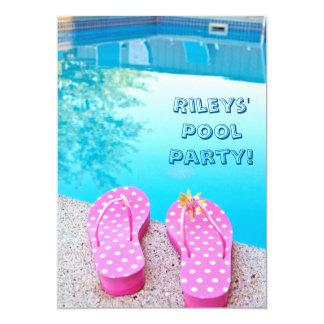 La fiesta en la piscina del verano invita invitación 12,7 x 17,8 cm