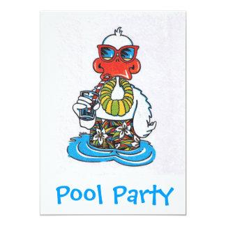 La fiesta en la piscina invita invitación 12,7 x 17,8 cm