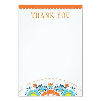 La fiesta le agradece tarjeta de nota invitación 8,9 x 12,7 cm