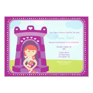 La fiesta linda de la princesa cumpleaños de comunicados personalizados