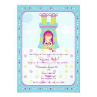 La fiesta linda de la princesa cumpleaños de invitación 12,7 x 17,8 cm
